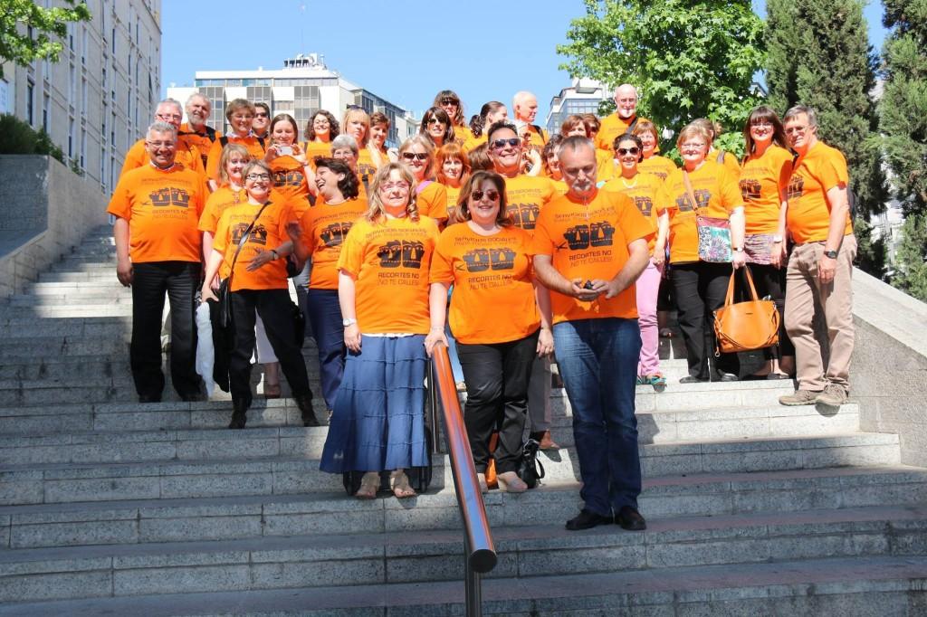 Pomarańczowy Protest, Madryt 2014