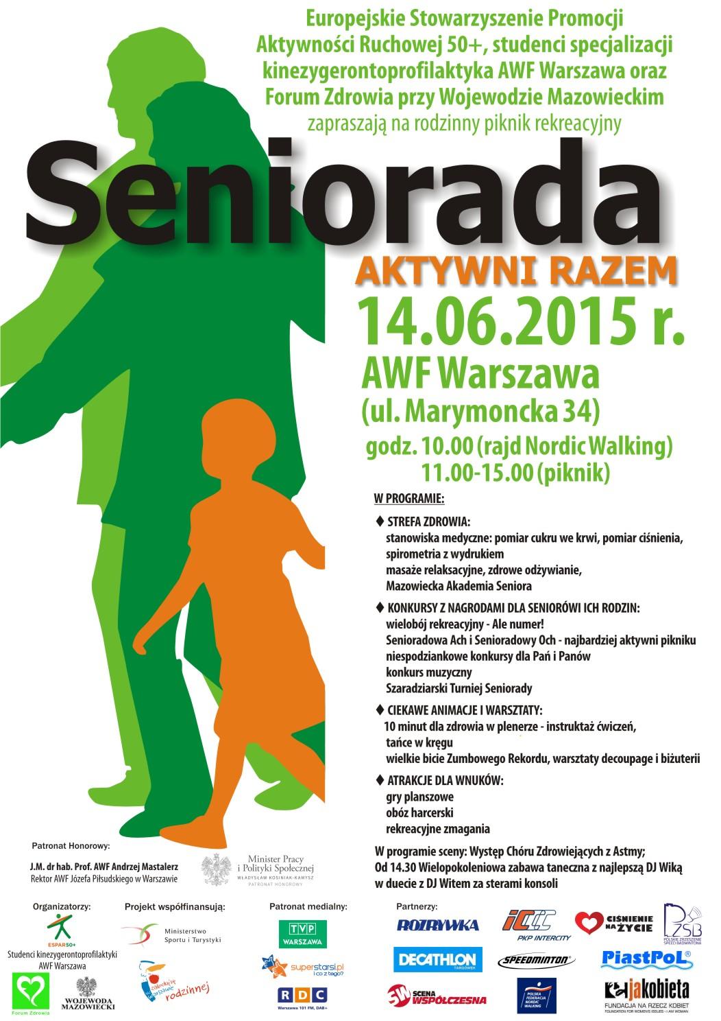 plakat Seniorada 2015 WAWA